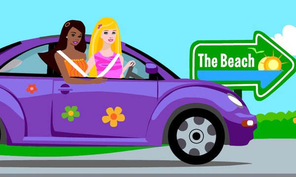 Barbie Car Fun