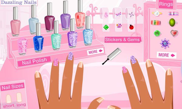 barbie nail art games free online