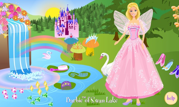 Barbie of Swan Lake: Odette Dress Up